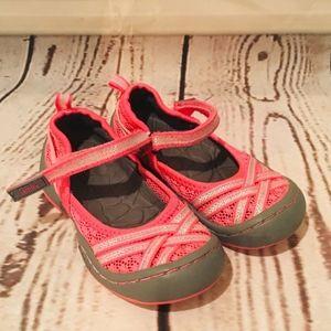 Jambu Boa3 Pink Silver Mary Jane Shoes 7 M